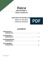Física - Eletricidade e Física Moderna - Vestibulares 2019