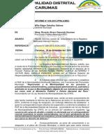 INFORME 087-2015 Reposicion de Gladis
