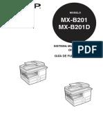 Manual de Operador Sharp MXB201