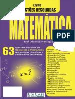 Questões Resolvidas - Matemática - Alberico Henrique
