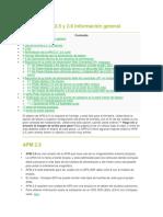 APM 2.5 y 2.6 Información General
