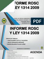 Informe Rosc y Ley 1314 de 2009