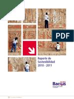 Backus 39 Sustainable Development Report 2011