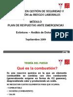Gestion de Emergencias Diplomado SySO Sep 2019 Extintores