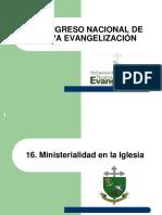 16. Ministerialidad en La Iglesia