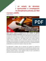 Conducción en estado de ebriedad, principio de oportunidad e investigación administrativa disciplinaria policial, por Neil Hurtado Castillo