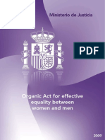 Spanish Organic Act for Effective Equality Between Women and Men
