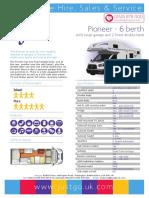 Pioneer 6 berth