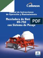 Manual HV 750 Pesaje