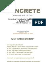 Concrete, consumer product