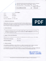CERTIFICADO DE CALIBRACION TELUROMETRO DIGITAL
