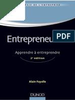 (Management sup (en ligne)) Fayolle, Alain - Entrepreneuriat _ apprendre à entreprendre-Dunod (2012)
