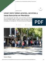 Suben Precios, Servicios y Tasas Bancarias en Mendoza