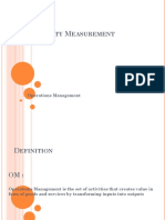 Productivity Measurement Numerical PPT 1