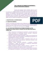 TDR Proy Papa Nativa Huanuco - Sugerencias Tecn9icas - 9 de Julio 2019