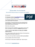 001 First Episode Speak English Now Podcast