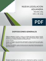 Nueva Legislacion Aduanera - Decreto 1165 de 2019- Sep 5
