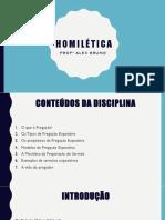 Homilética - Profº Alex Bruno