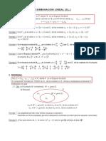 Tema - Combinación Lineal