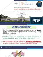 Week-1 Module-4 EM Spectrum Solar Reflection and Thermal Emission Remote Sensing