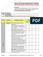 ARB Application Compliance Checklist