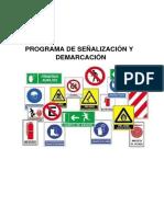 Programa de Señalización y Demarcación