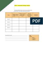 explore - assessment strategy checklist