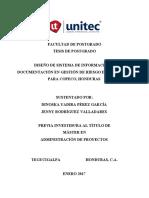 TESIS SISTEMA DE INFORMACIÓN Y DOCUMENTACION EN GESTION DE RIESGO DE DESATRES 2017 copia