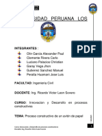 Informe de Produccion Del Avion