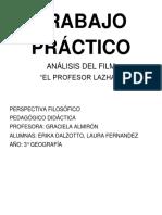 Análisis Del Film El Profesor Lazhar