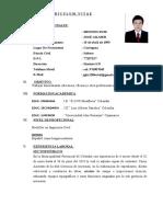 Cv, José Gilmer Briones Ruiz Ing. Civil