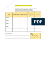 elaborate - assessment strategy checklist 3