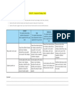 evaluate - assessment strategy rubric