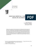 CHACAMA, Juan (2003) - Identidad Espiritual y Organización Social en Los Andes Centrales