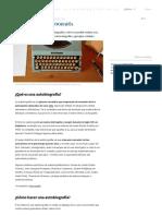 Autobiografía_ Concepto, Cómo Hacer Una y Ejemplos