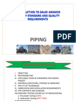 Applicable Codes & Standards for Aramco Projects(Piping)
