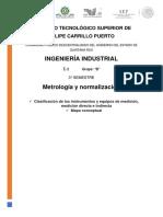 Clasificación de instrumentos de medición