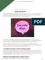 Cómo Representar Un Diálogo Gráficamente _ Literautas