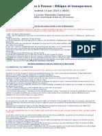 Réunion publique Ethique et Transparence à Fuveau 14 Juin 2019