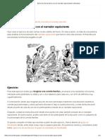 Ejercicios de Escritura Con El Narrador Equisciente _ Literautas