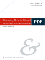 Duff & Phelps - Measuring Alpha for Private Equity - 2019