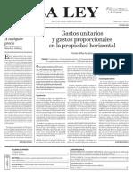 Ll. Doctrina. Gastos Unitarios y Proporcionales. Ph. c.a.azize