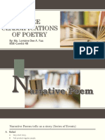 classification of poetry