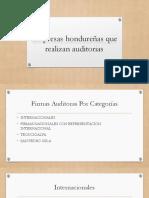 Empresas Hondureñas Que Realizan Auditorias