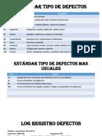 Log Registro Defectos