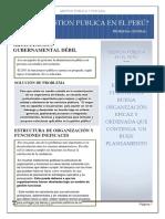 Gestion Publica en El Perú