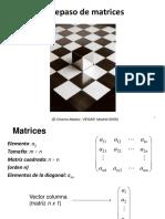 1. Repaso de Matrices 2019