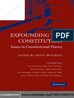 Grant Huscroft - Expounding the Constitution_ Essays in Constitutional Theory (2008)