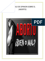 Articulo de Opinion Aborto Etica