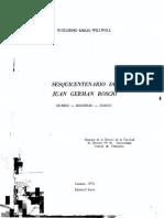 Roscio por Guillermo Emilio W